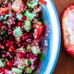 Pomegranate Season: Pomegranate Quinoa Israeli Salad