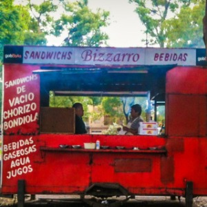 Buenos Aires Street Food: A Bizarre Bondiola in the Woods