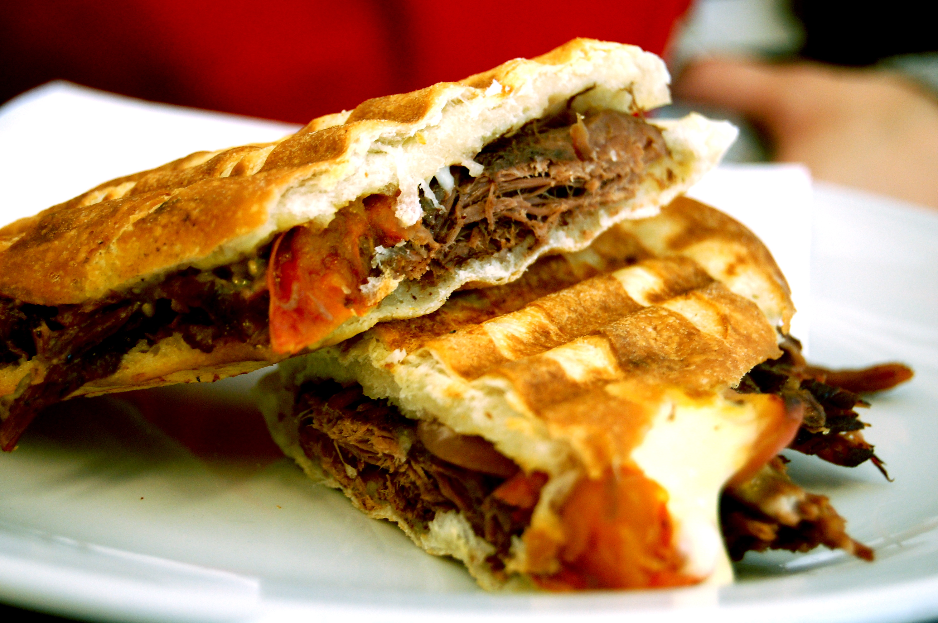 A Latino Sandwich Pick Up The Fork