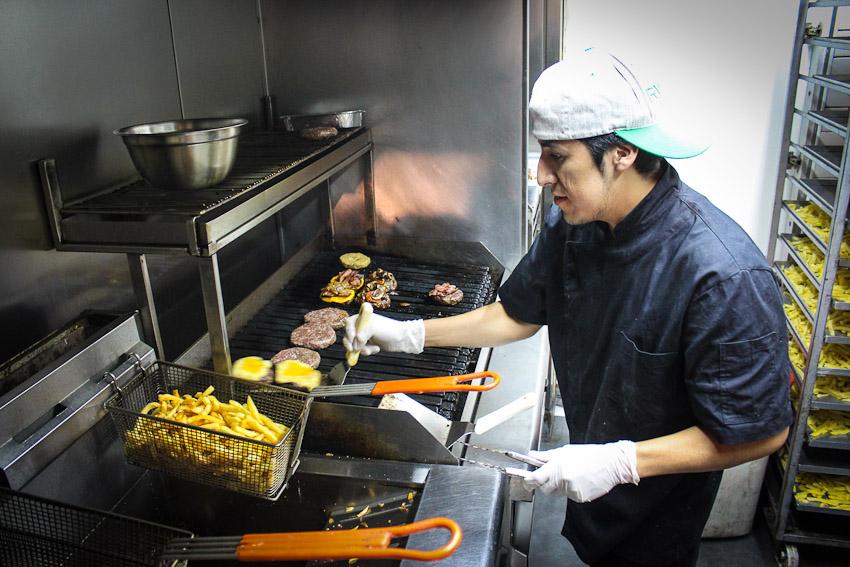 Visney Pintado working his magic at Burger Joint2
